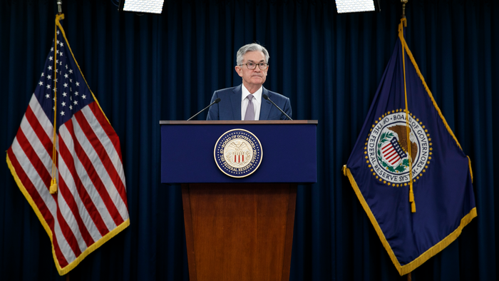 In this March 3 photo, Federal Reserve Chair Jerome Powell speaks during a news conference to discuss an announcement from the Federal Open Market Committee, in Washington.